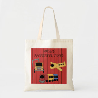 Toy Theme Train Plane Wrecker Truck Tote Bag
