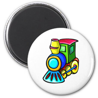 Toy Train 6 Cm Round Magnet