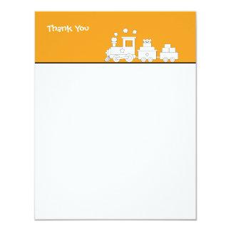 Toy Train Birthday Thank you Card