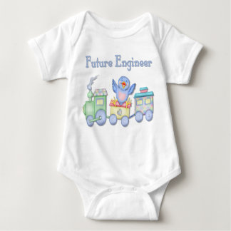 Toy Train Bluebird for Future Engineer Baby Baby Bodysuit