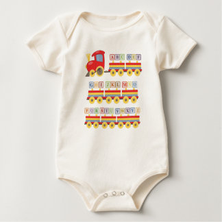 Toy Train Carrying Alphabet Blocks Baby Bodysuit
