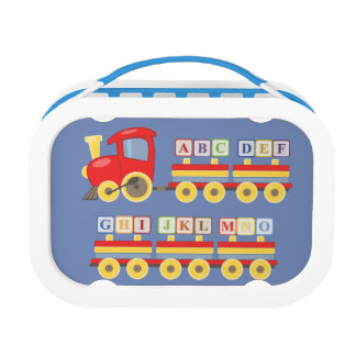 Toy Train Carrying Alphabet Blocks Lunch Box