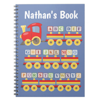 Toy Train Carrying Alphabet Blocks Notebook