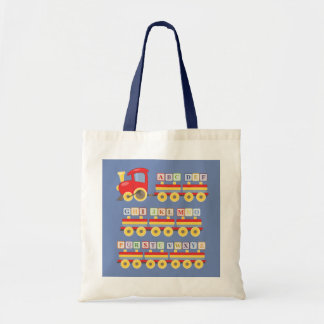 Toy Train Carrying Alphabet Blocks Tote Bag