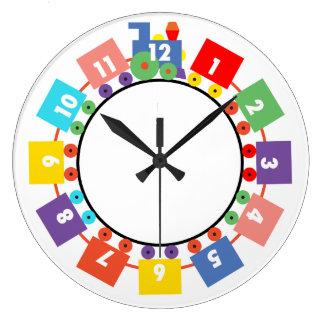 Toy Train Large Clock