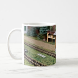 Toy Train Platform Water Tower Basic White Mug