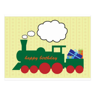 Toy Train Postcard