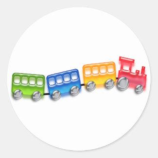 Toy Train Round Sticker