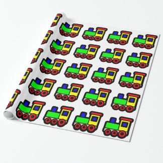 Toy Train Wrapping Paper