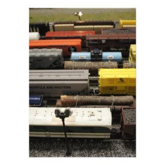 Toy Trains 13 Cm X 18 Cm Invitation Card