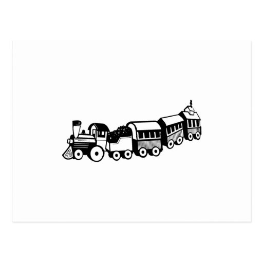 Toy Trains Postcard