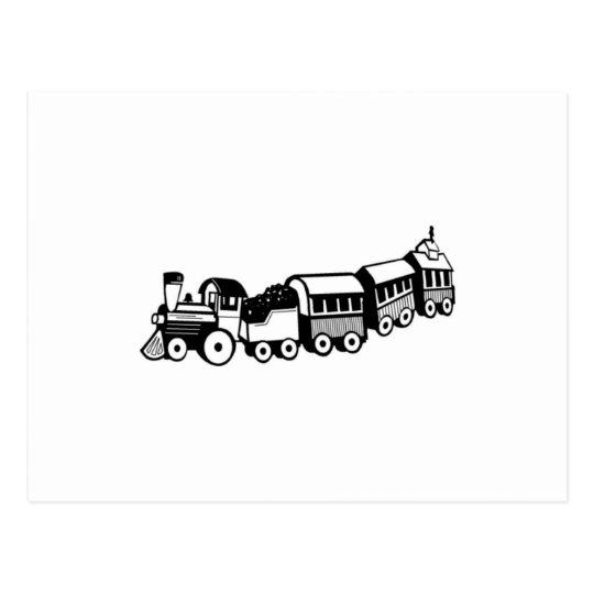 Toy Trains Postcard