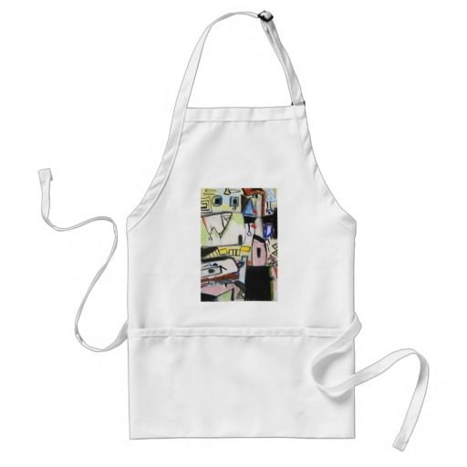 Toy Wars (primitive expressionism) Apron