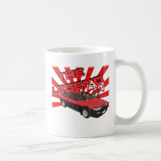 Toyota Corolla AE86 Basic White Mug