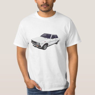 Toyota Corolla DX KE70 2-door white t-shirt