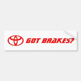Toyota_logo, Got Brakes? Bumper Sticker