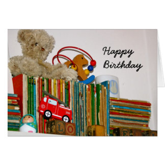 Toys and Books  Happy Birthday Card
