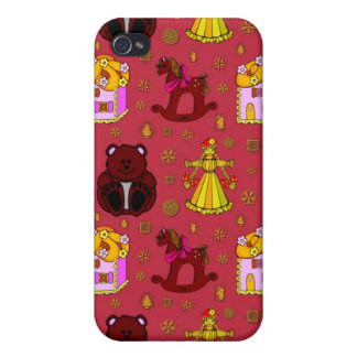 Toys – Golden Dolls & Chocolate Teddy Bears iPhone 4/4S Case
