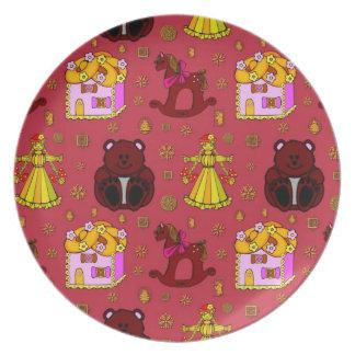 Toys – Golden Dolls & Chocolate Teddy Bears Plate