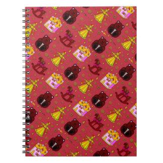 Toys – Golden Dolls & Chocolate Teddy Bears Spiral Notebook