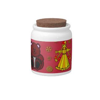 Toys – Golden Dolls & Chocolate Teddy Bears Candy Dish
