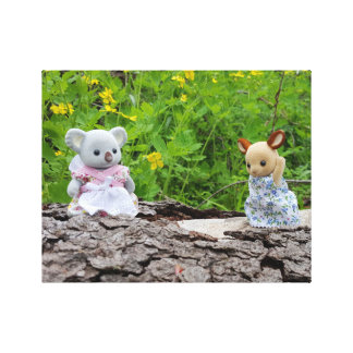 Toys In The Garden Friendly Hello Canvas Gallery Wrapped Canvas