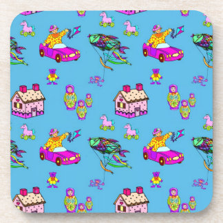Toys – Pink Dollhouses Turquoise Kites Coaster