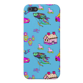 Toys – Pink Dollhouses & Turquoise Kites iPhone 5 Covers