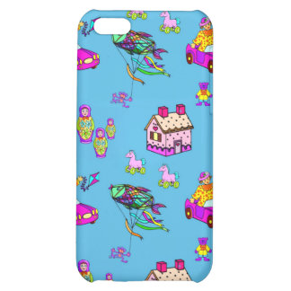 Toys – Pink Dollhouses & Turquoise Kites iPhone 5C Cover