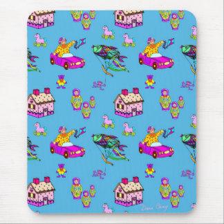 Toys – Pink Dollhouses & Turquoise Kites Mousemats