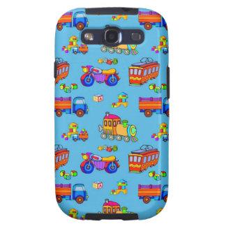 Toys - Red Trucks & Orange Trains Galaxy SIII Cases