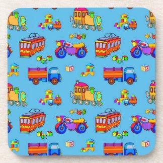 Toys - Red Trucks Orange Trains Coaster
