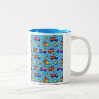 Toys - Red Trucks & Orange Trains Coffee Mug