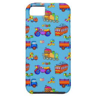 Toys - Red Trucks & Orange Trains iPhone 5 Covers