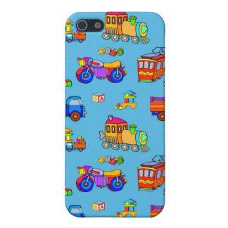 Toys - Red Trucks & Orange Trains Covers For iPhone 5