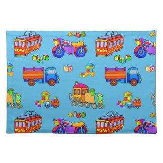 Toys - Red Trucks & Orange Trains Placemat