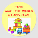 toys round sticker