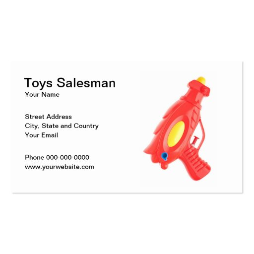Toys Salesman Business Card Business Cards
