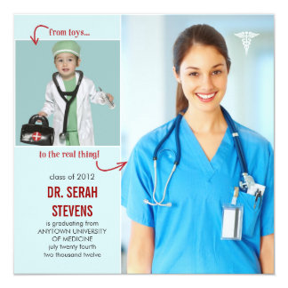 Toys to Real Doctor Medical Graduation Card