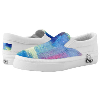 "Tquinn original art ""Cool Breeze"" Slip-On Shoes"