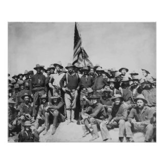 TR and The Rough Riders Print