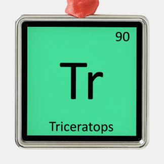 Tr - Triceratops Dinosaur Chemistry Periodic Table Christmas Ornament