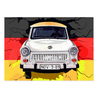 Trabant Car and German Flag, Berlin Wall Pack Of Chubby Business Cards