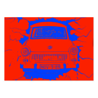 Trabant Car and Red/Blue Berlin Wall Pack Of Chubby Business Cards