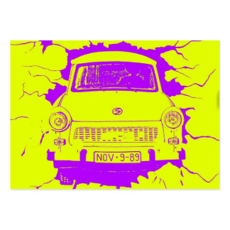 Trabant Car and Yellow/Purple Berlin Wall Pack Of Chubby Business Cards