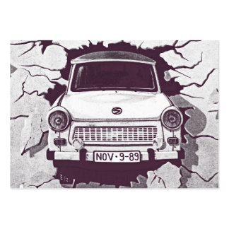 Trabant Car , Black & White, Berlin Wall (1) Pack Of Chubby Business Cards