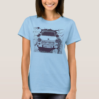 Trabant Car , Black & White, Berlin Wall (1) T-Shirt