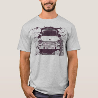 Trabant Car , Black & White, Berlin Wall (1) T-Shirt