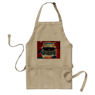 Trabant Car , Browns and Reds, Berlin Wall Standard Apron