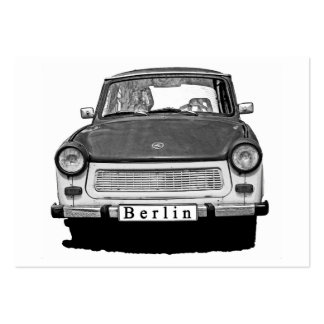Trabant Car Front, Black and White,  Berlin Pack Of Chubby Business Cards